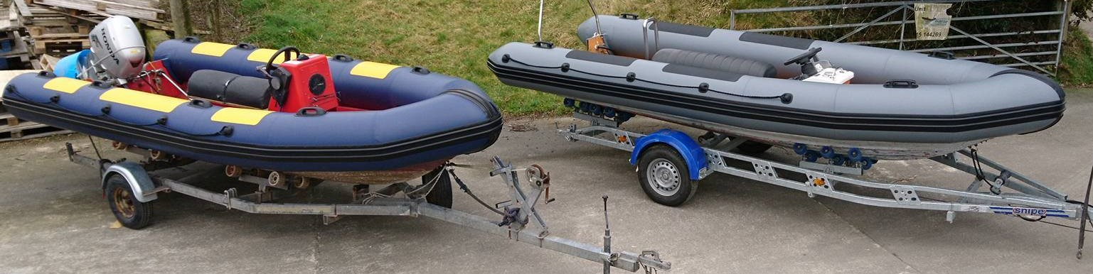 Avon Searider 5.4 m RIBs retubed for use as rescue/safety boats
