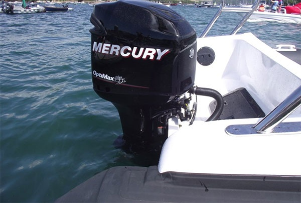Aquaflyte 8.5 m Transom with Mercury Outboard