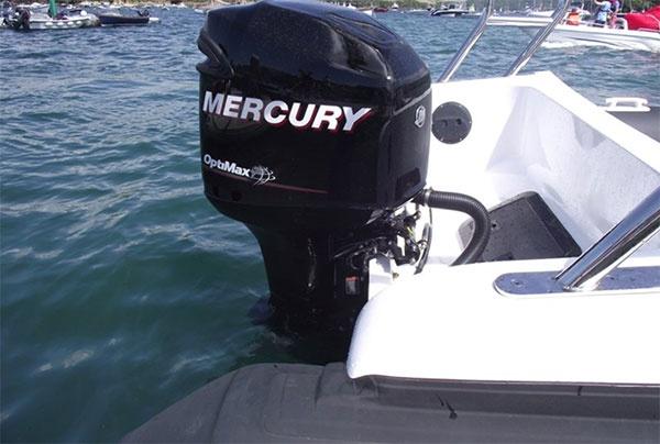 Aquaflyte 8.5 m Transom with Mercury Outboard