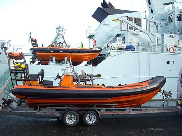 Delta Rib retube for Marine Scotlands ship Hirta Patrol RIB