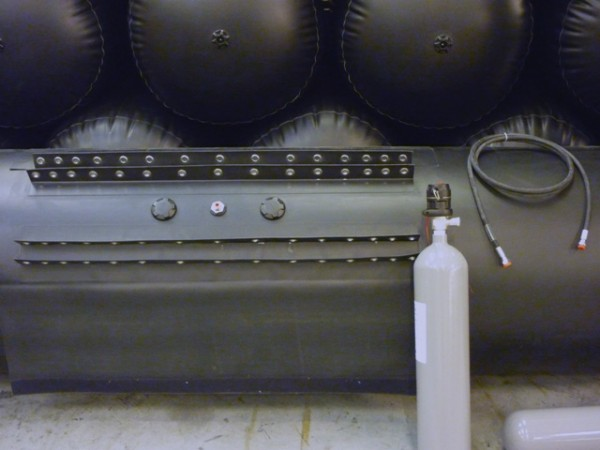 Manually operated Self Righting Bag Co2 system