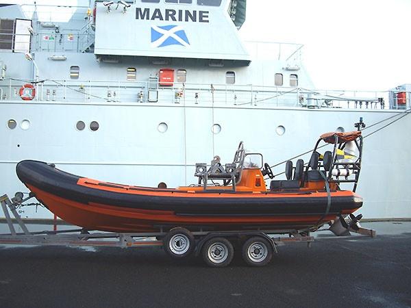 Delta Rib Tubes for Marine Scotlands ship Hirta boarding RIB