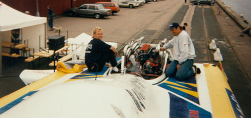 Rib Cat showing engine cowling removed