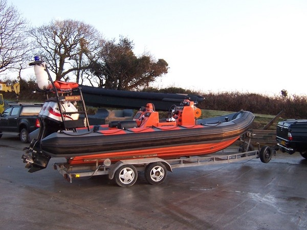 RibCraft 6.5 mtr retube for Portishead Lifeboat