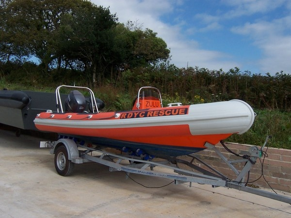 Ribtec RIB 535 retubed for Royal Dart Yacht Club