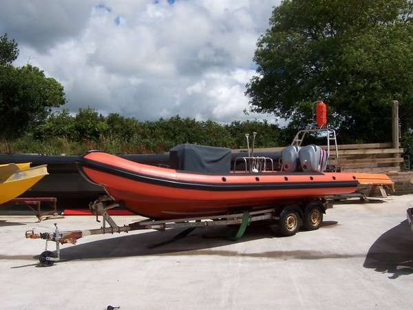 Lundy Island's Tornado 6.5 mtr workboat with replacement rib tubes made and fitted by Tilley Inflatbles